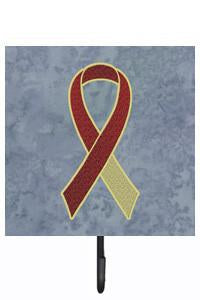 Buy this Burgundy and Ivory Ribbon for Head and Neck Cancer Awareness Leash or Key Holder AN1218SH4