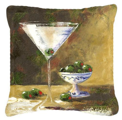 Buy this Olive Martini by Malenda Trick Canvas Decorative Pillow TMTR0033PW1414