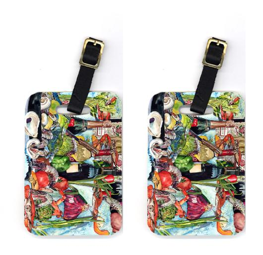 Buy this Pair of Wine Crab Shrimp and Oysters Luggage Tags