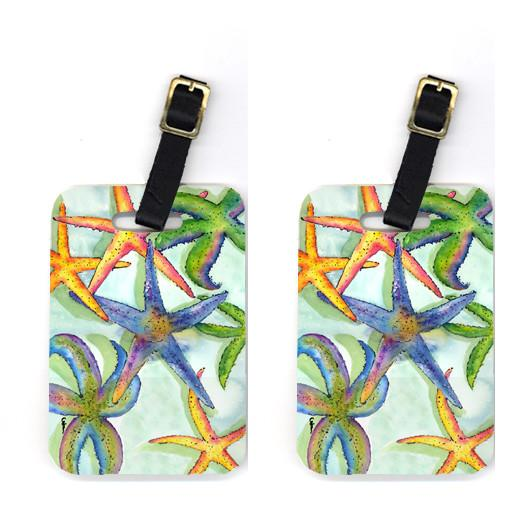 Pair of Starfish Luggage Tags by Caroline's Treasures
