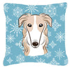 Buy this Snowflake Borzoi Fabric Decorative Pillow BB1662PW1414