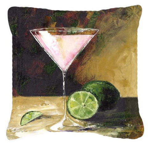 Buy this Lime Martini by Malenda Trick Canvas Decorative Pillow TMTR0034PW1414