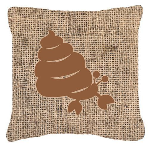 Buy this Hermit Crab Burlap and Brown   Canvas Fabric Decorative Pillow BB1092