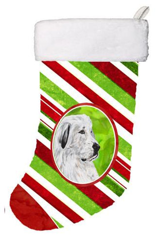 Buy this Great Pyrenees Candy Cane Christmas Christmas Stocking SC9810-CS