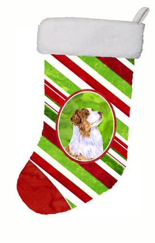 Buy this Australian Shepherd Candy Cane Holiday Christmas Christmas Stocking LH9228
