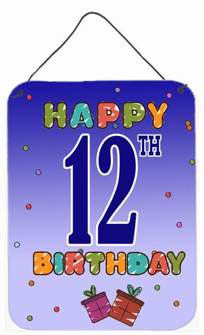 Buy this Happy 12th Birthday Wall or Door Hanging Prints CJ1103DS1216