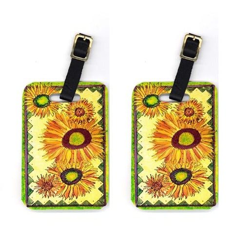 Buy this Pair of Flower - Sunflower Luggage Tags