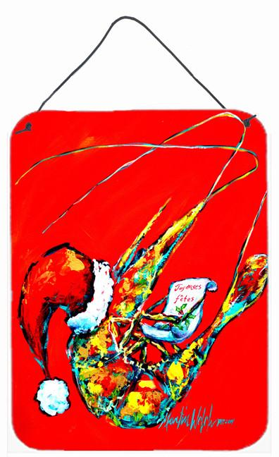 Happy Holidays Shrimp Wall or Door Hanging Prints MW1197DS1216 by Caroline's Treasures