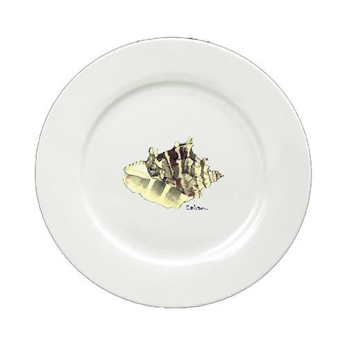 Buy this Shell Round Ceramic White Salad Plate 8658-DPW