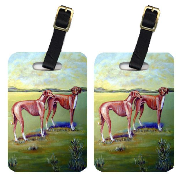 Pair of 2 Azawakh Hound Luggage Tags by Caroline's Treasures