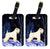 Starry Night Wheaten Terrier Soft Coated Luggage Tags Pair of 2 by Caroline's Treasures