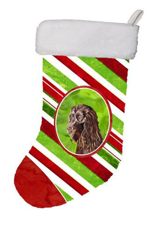 Buy this Boykin Spaniel Candy Cane Christmas Christmas Stocking SC9616-CS