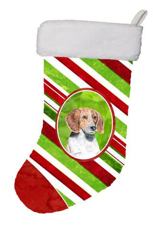 Buy this English Foxhound Candy Cane Christmas Christmas Stocking SC9621-CS