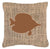 Buy this Fish - Tang Fish Burlap and Brown   Canvas Fabric Decorative Pillow BB1023