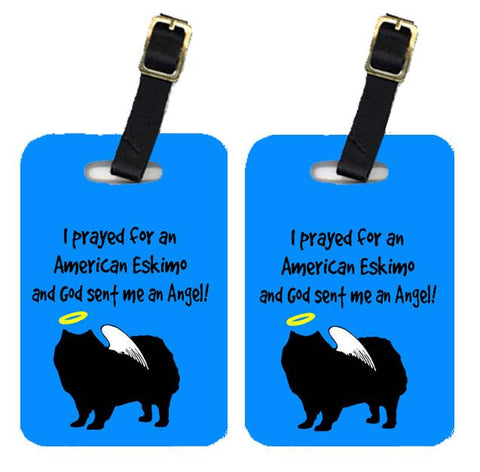 Buy this Pair of 2 American Eskimo Luggage Tags