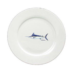 Buy this Blue Marlin Round Ceramic White Salad Plate 8674-DPW