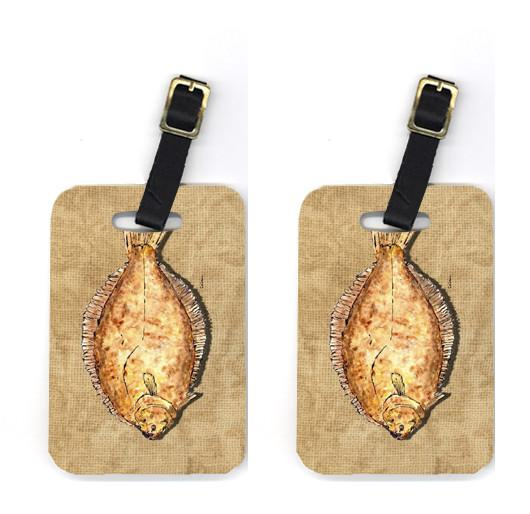 Buy this Pair of Flounder Luggage Tags