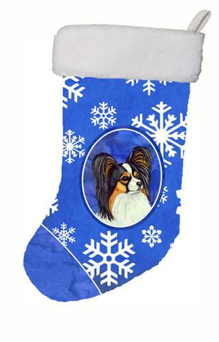 Buy this Papillon Winter Snowflakes Snowflakes Holiday Christmas Stocking LH9300