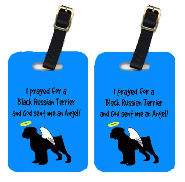 Pair of 2 Black Russian Terrier Luggage Tags by Caroline's Treasures