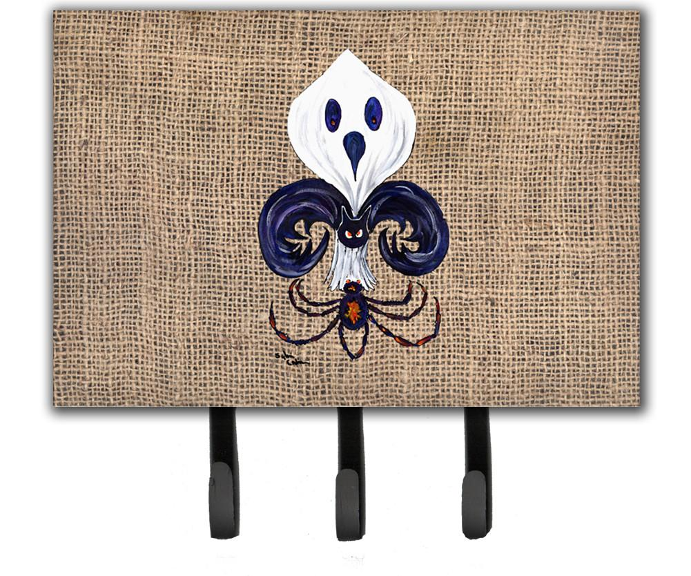 Buy this Halloween Ghost Spider Bat Fleur de lis  Leash Holder or Key Hook