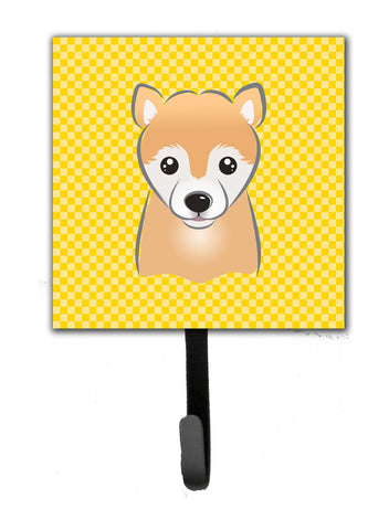 Buy this Yellow Checkered Shiba Inu Leash or Key Holder BB1133SH4
