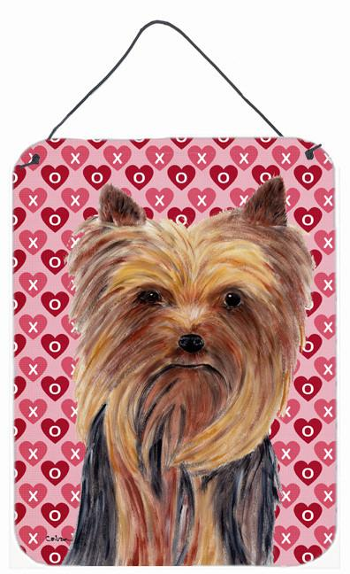 Yorkie Hearts Love Valentine's Day Wall or Door Hanging Print by Caroline's Treasures