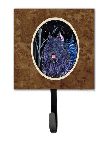 Buy this Starry Night Bouvier des Flandres Leash Holder or Key Hook