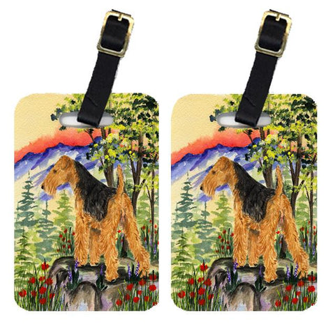 Buy this Pair of 2 Lakeland Terrier Luggage Tags
