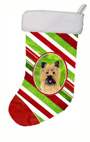 Buy this Cairn Terrier Candy Cane Holiday Christmas  Christmas Stocking SC9335