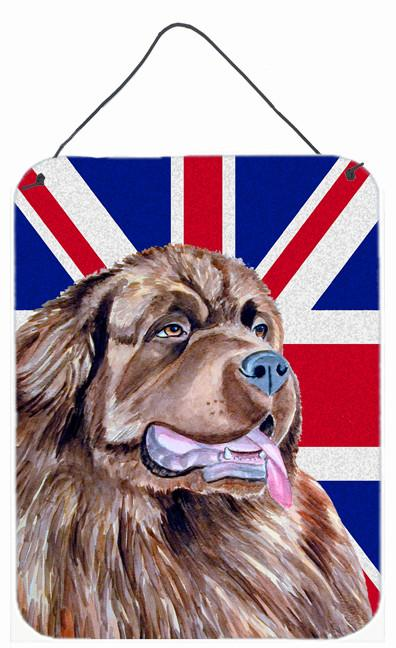 Newfoundland with English Union Jack British Flag Wall or Door Hanging Prints LH9463DS1216 by Caroline's Treasures