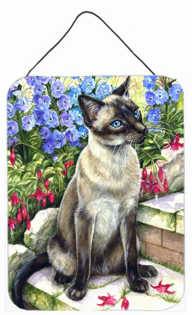 Buy this Siamese cat in the Garden Wall or Door Hanging Prints CDCO0026DS1216