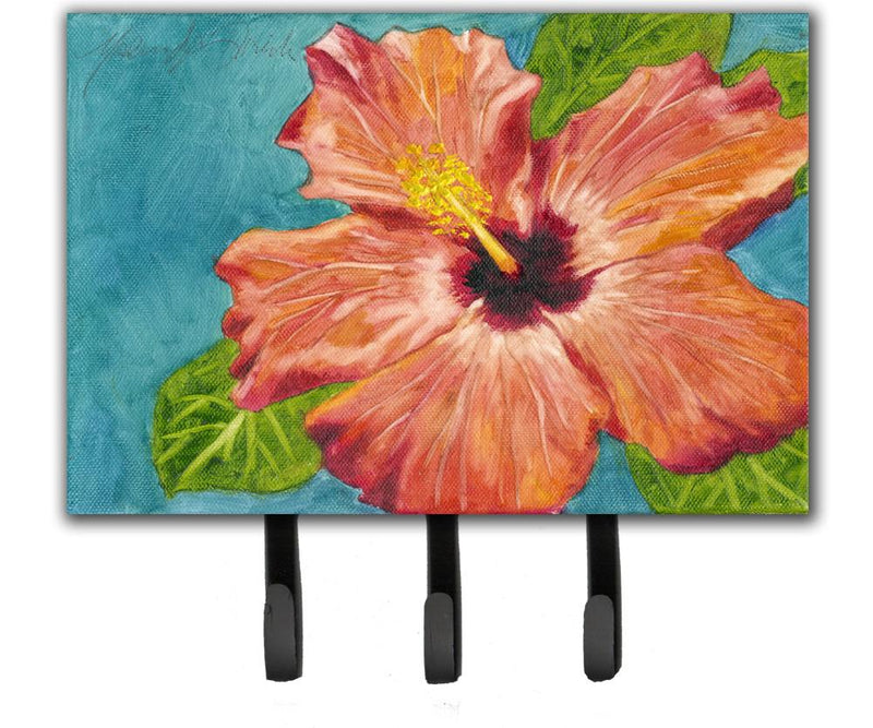 Buy this Coral Hibiscus by Malenda Trick Leash or Key Holder TMTR0316TH68