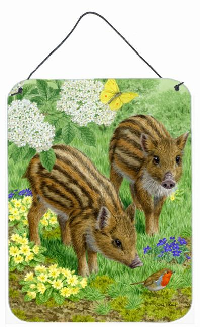 Wild Boar Wall or Door Hanging Prints ASA2124DS1216 by Caroline's Treasures