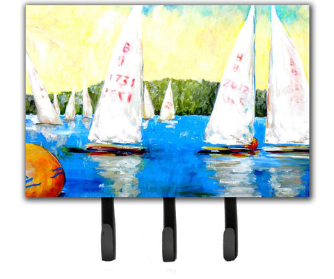Buy this Sailboats Round the Mark Leash or Key Holder