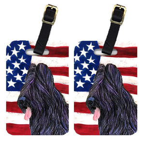 Buy this Pair of USA American Flag with Briard Luggage Tags SS4052BT