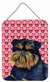 Brussels Griffon Hearts Love and Valentine's Day Wall or Door Hanging Prints by Caroline's Treasures