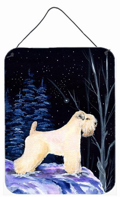 Starry Night Wheaten Terrier Soft Coated Metal Wall or Door Hanging Prints by Caroline's Treasures