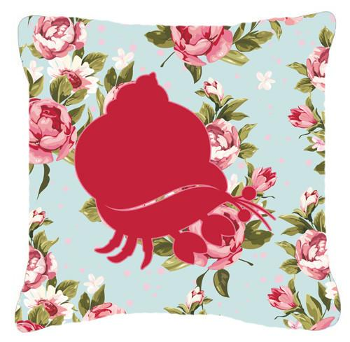 Buy this Hermit Crab Shabby Chic Blue Roses   Canvas Fabric Decorative Pillow BB1102