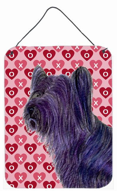 Skye Terrier Hearts Love and Valentine's Day Wall or Door Hanging Prints by Caroline's Treasures