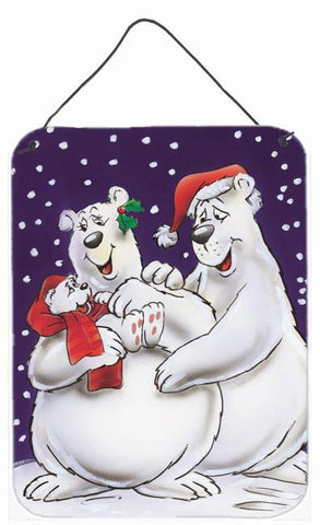 Buy this Holiday Polar Bears Wall or Door Hanging Prints AAH7269DS1216