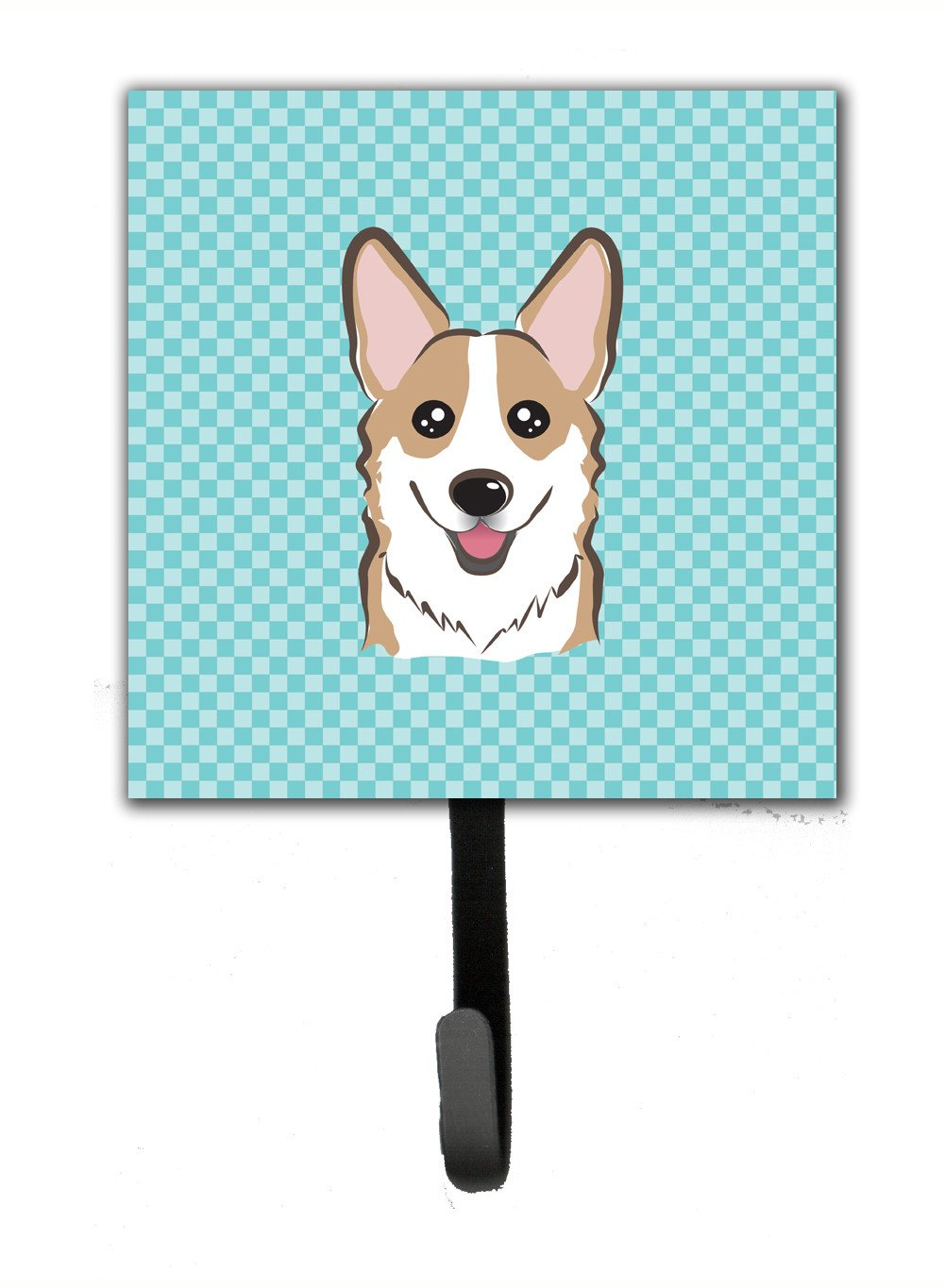Checkerboard Blue Corgi Leash or Key Holder BB1191SH4 by Caroline's Treasures