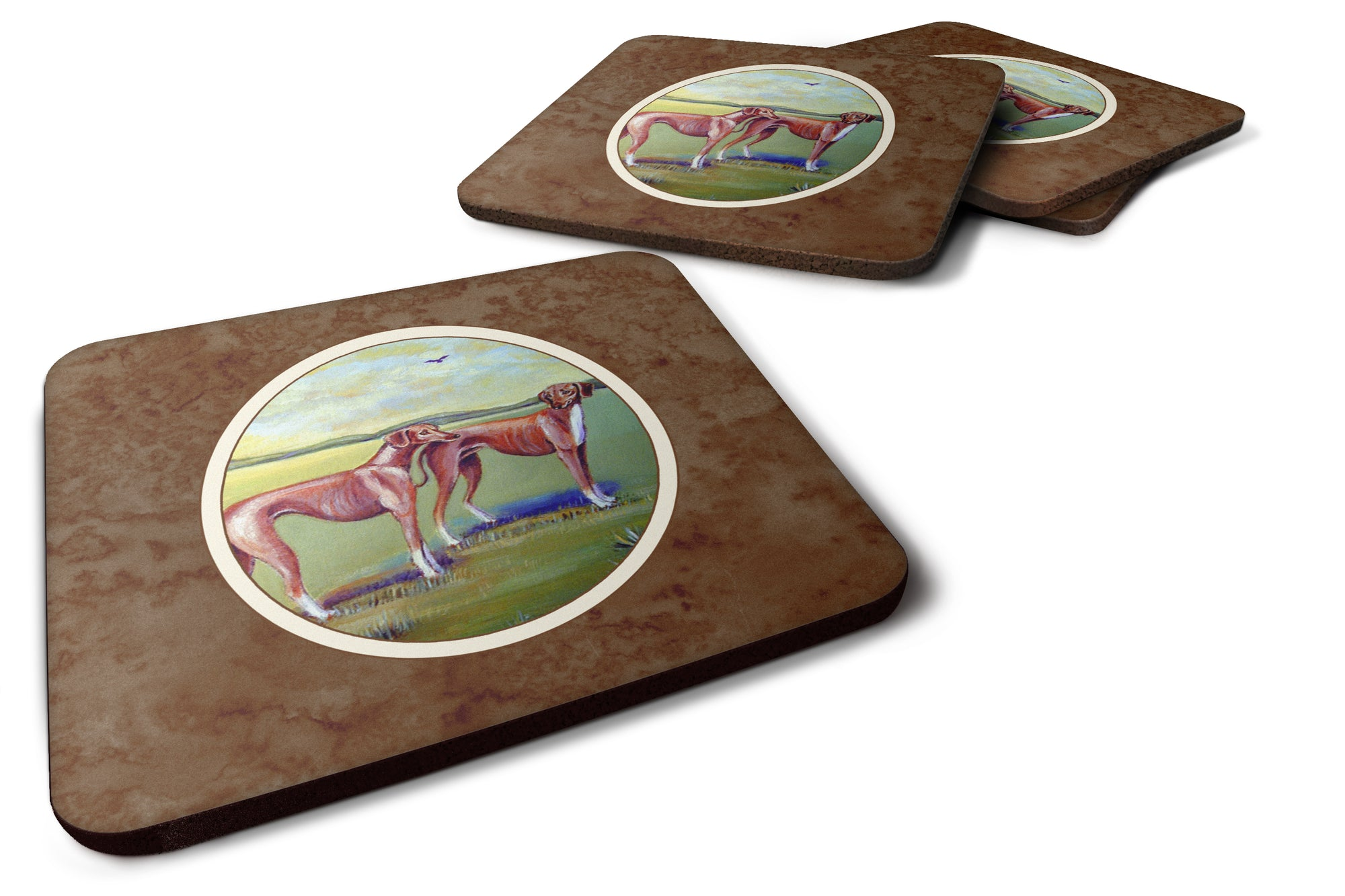 Azawakh Hound Foam Coaster Set of 4 7001FC by Caroline's Treasures