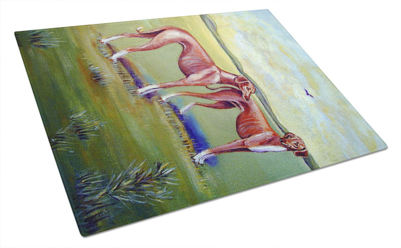 Azawakh Hound Glass Cutting Board Large - the-store.com