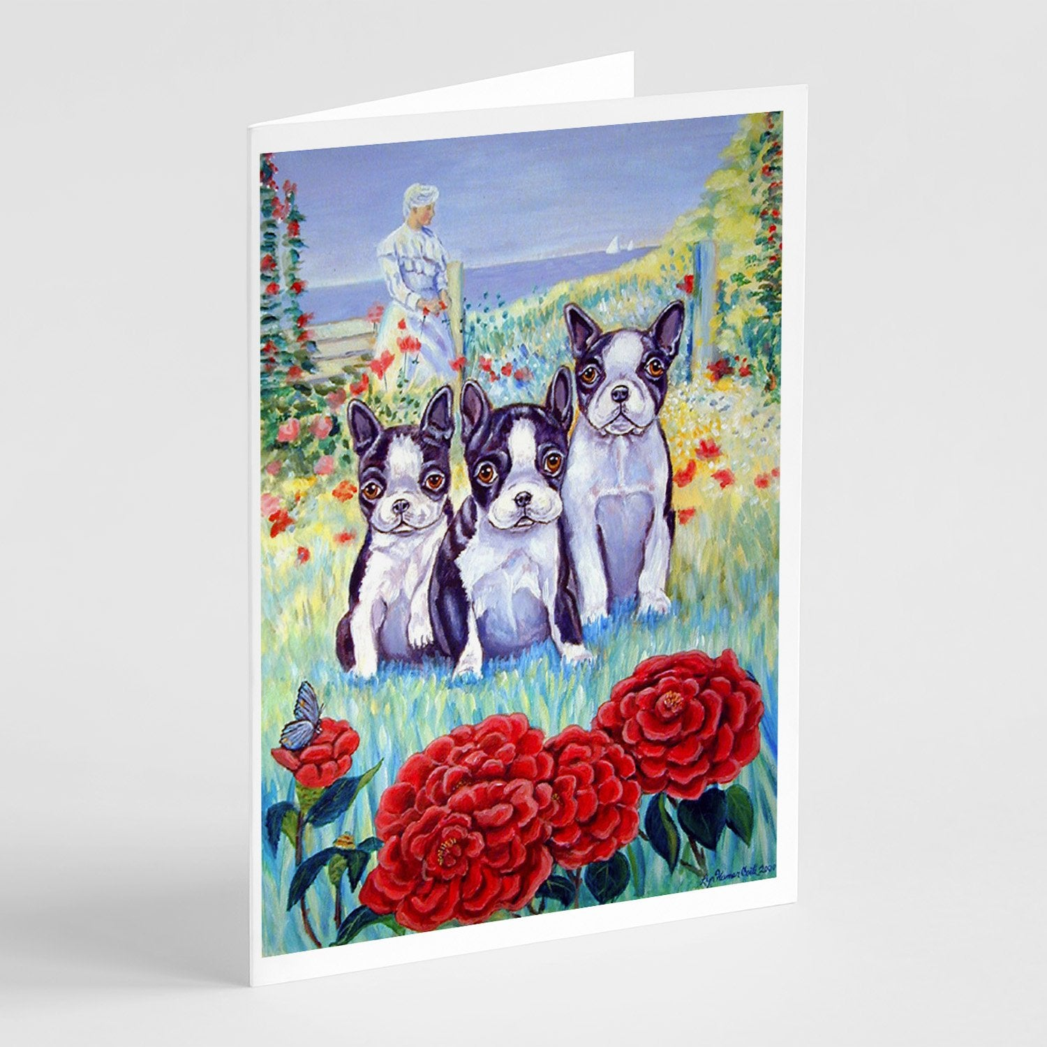 Buy this Boston Terrier Trio Greeting Cards and Envelopes Pack of 8
