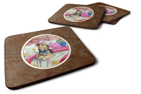 Buy this Airedale Waiting on Mom Foam Coaster Set of 4 7006FC