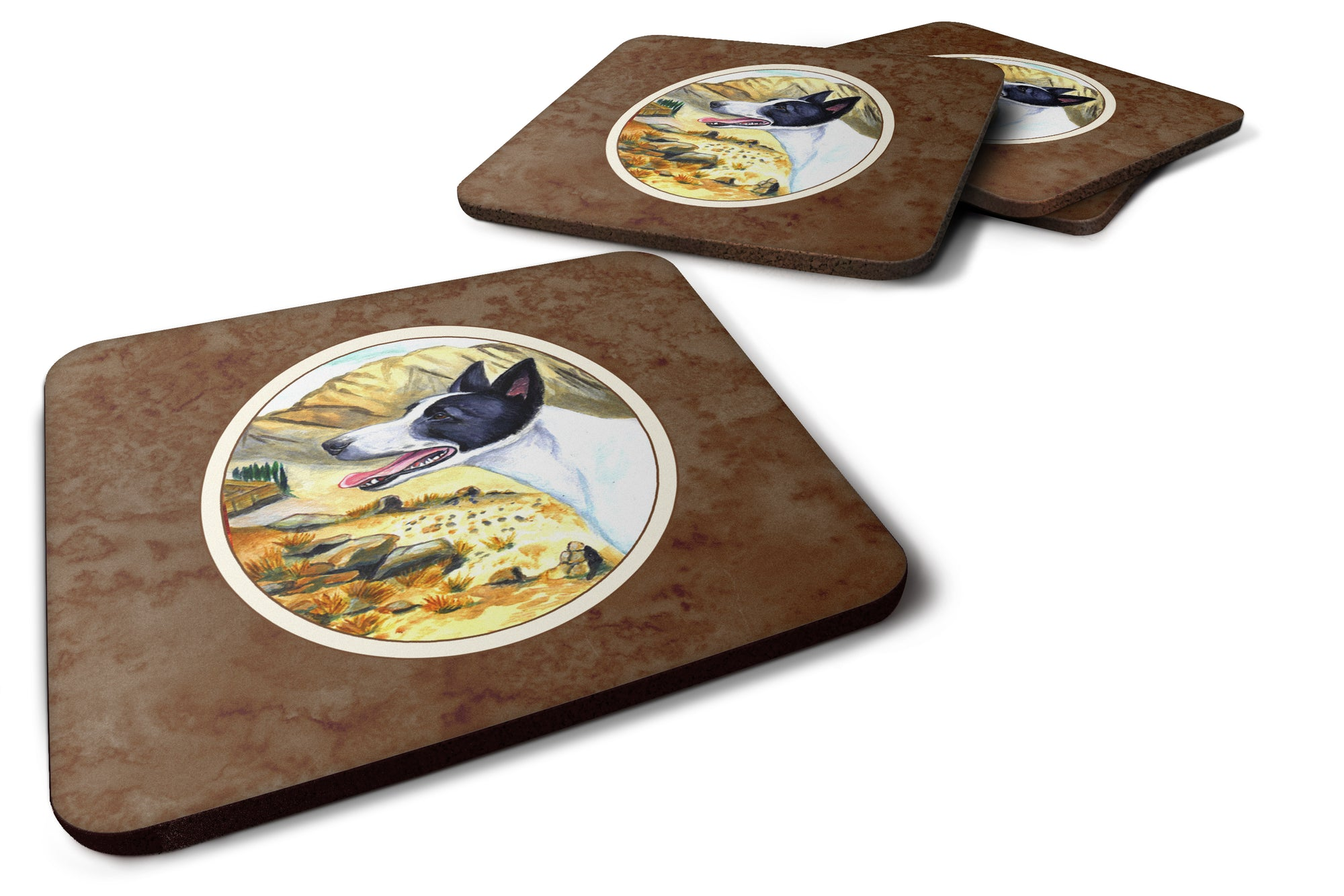 Buy this Canaan Dog Foam Coaster Set of 4 7018FC