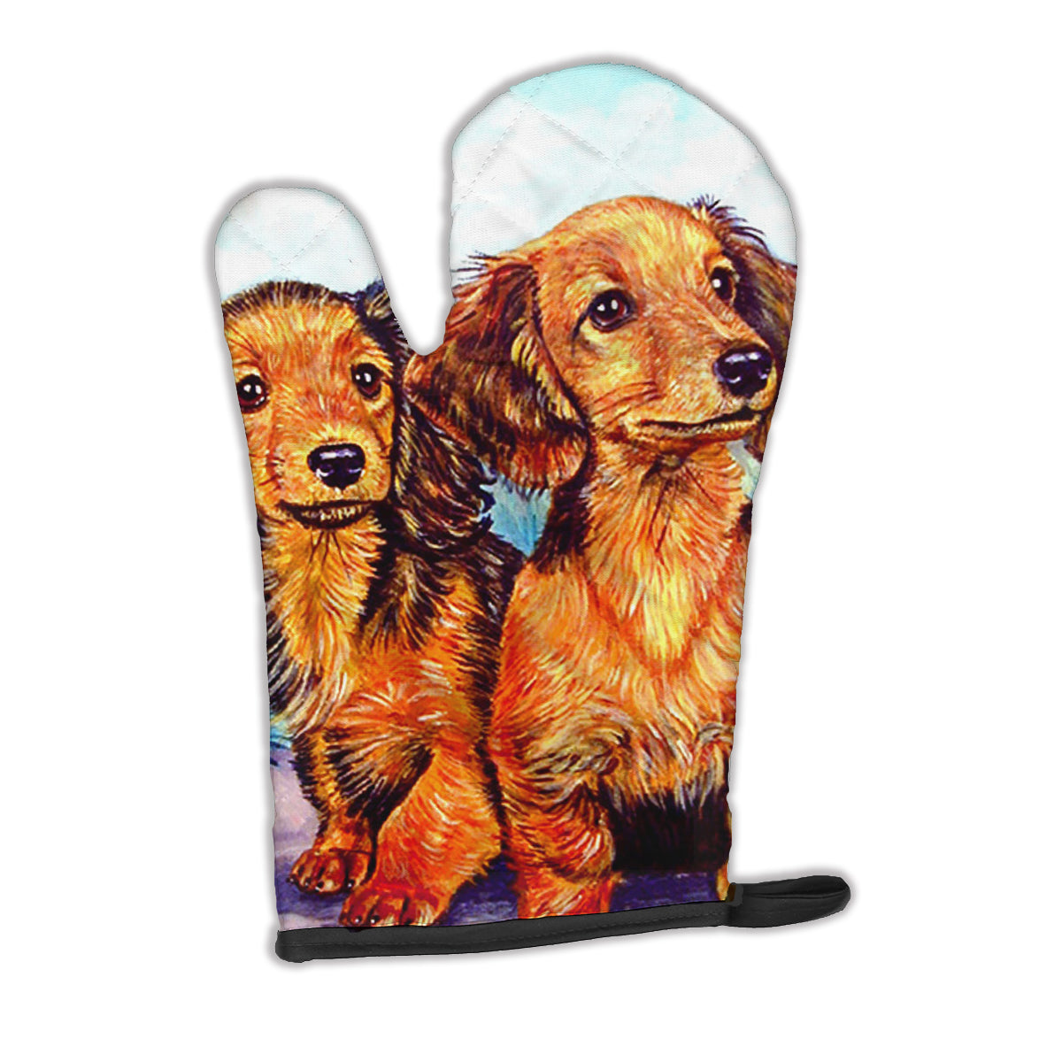 Buy this Long Hair Red Dachshund Two Peas Oven Mitt 7022OVMT
