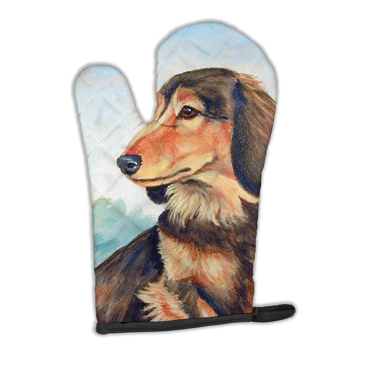 Buy this Long Hair Chocolate and Cream Dachshund Oven Mitt 7023OVMT