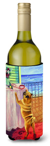 Buy this Helping Himself Fawn Pug Wine Bottle Beverage Insulator Beverage Insulator Hugger
