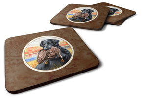 Buy this Flat Coated Retriever Foam Coaster Set of 4 7032FC